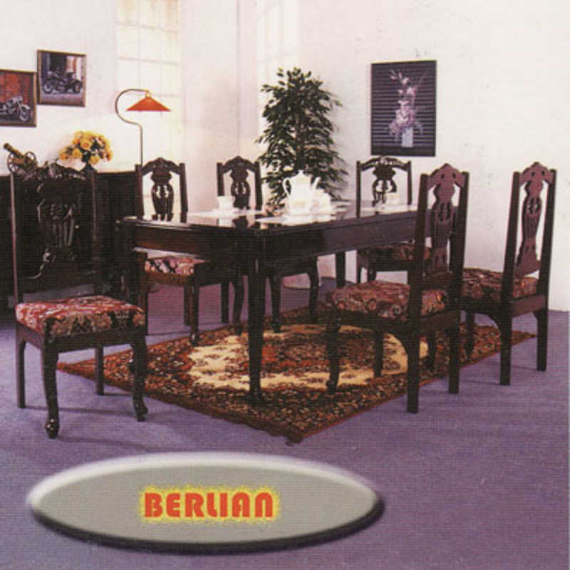Berlian 6 Seater Dining Table Set