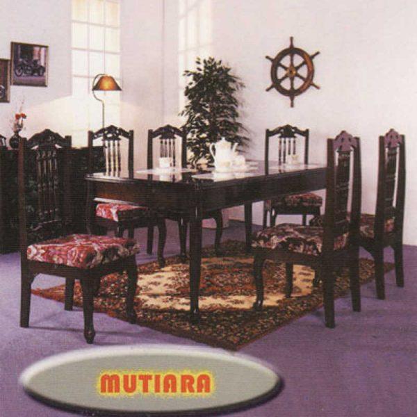 Mutiara 6 Seater Dining Table Set